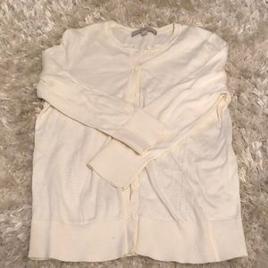 Loft winter white colored button up cardigan